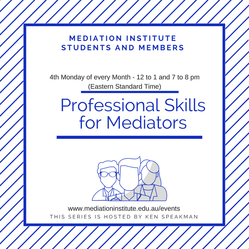 Professional Skills for Mediators