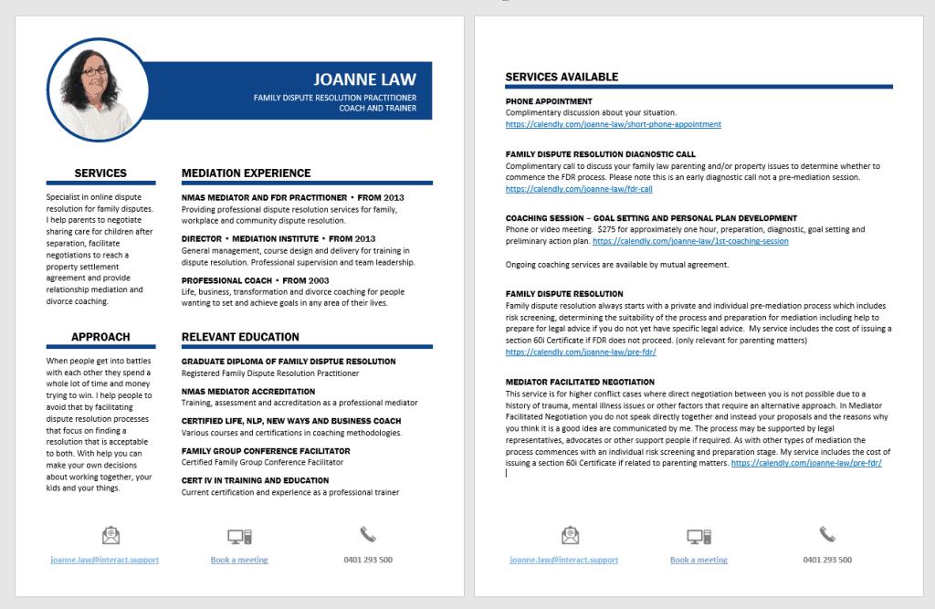 Mediators CV image
