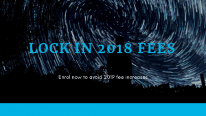 Lock in 2018 fees into 2019
