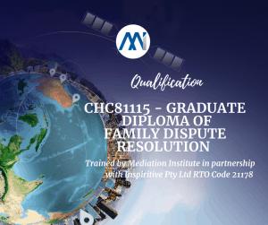 CHC81115 - Graduate Diploma of Family Dispute Resolution