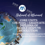 Core Units - CHC81115 - Graduate Diploma of Family Dispute Resolution