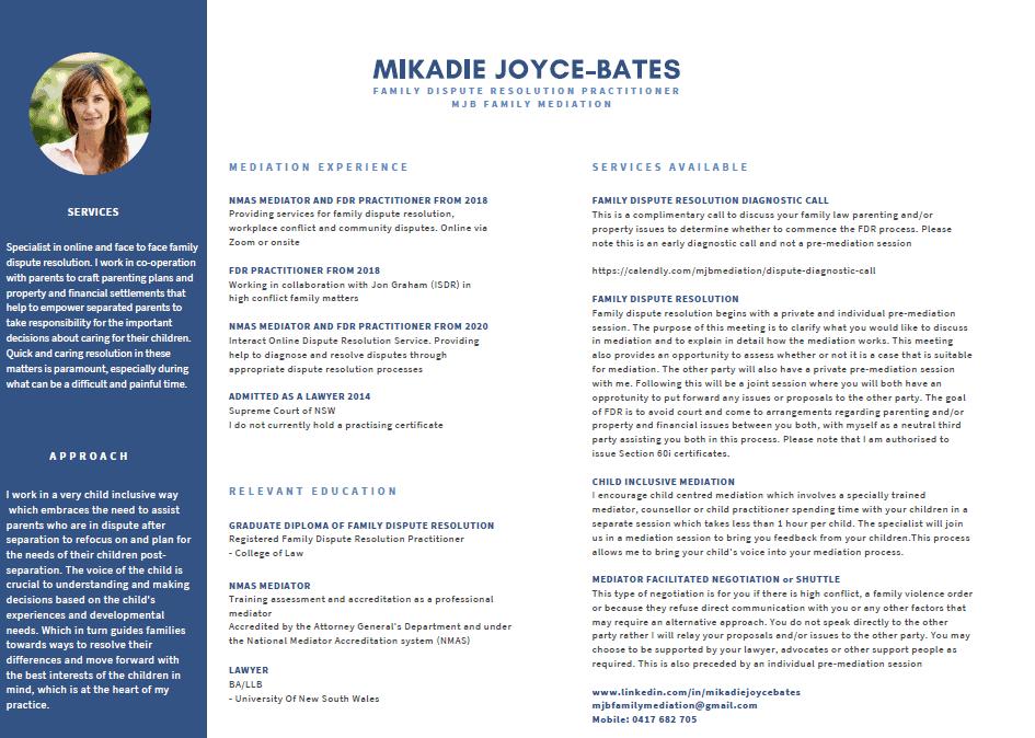 Mikadie CV Image