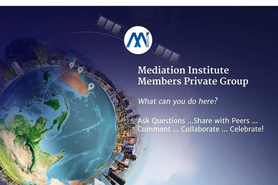 Mediation Institute Members Facebook Page