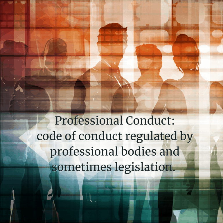 Professional Conduct