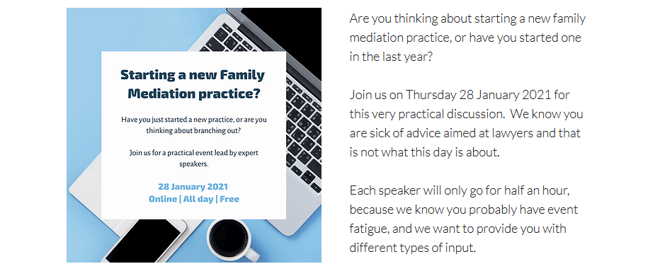 Starting a new family mediation practice