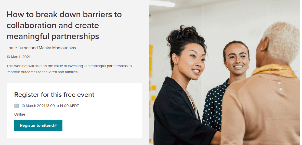 How to break down barriers