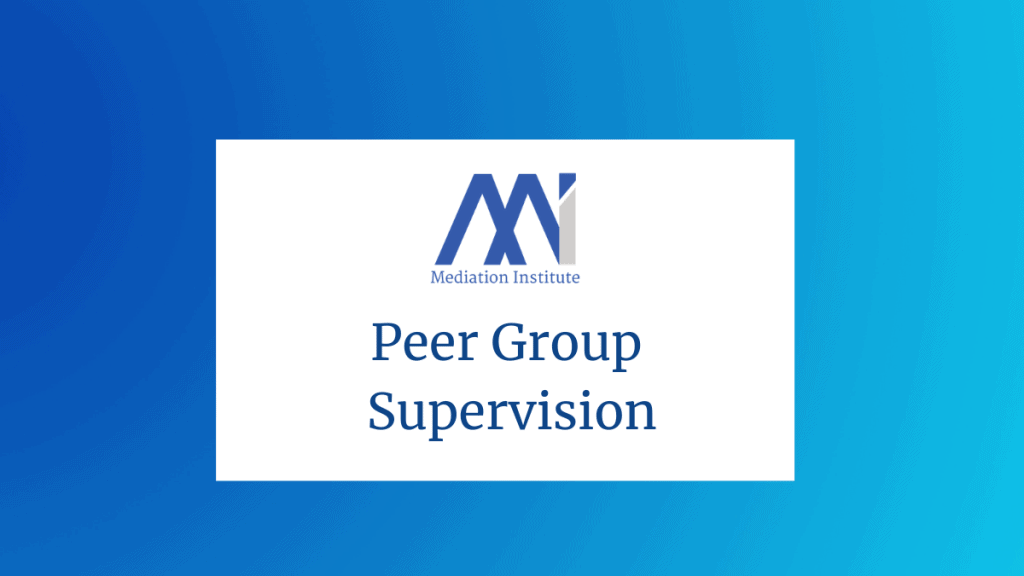 Peer group supervision